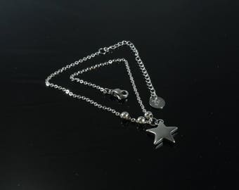 1 ankle bracelet stainless steel star