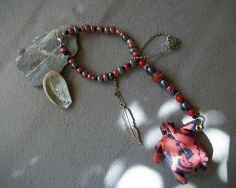Rear view mirror turtle pendant