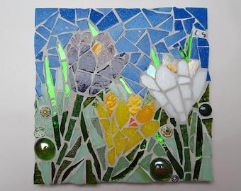 crocus mosaic tile
