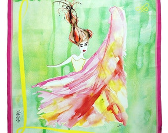 Little Dancer painting silk scarf