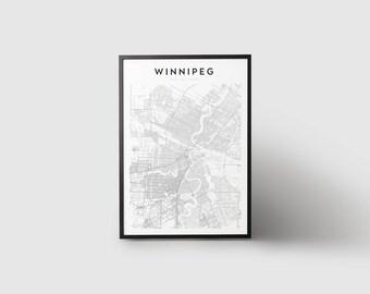 Winnipeg Map Print