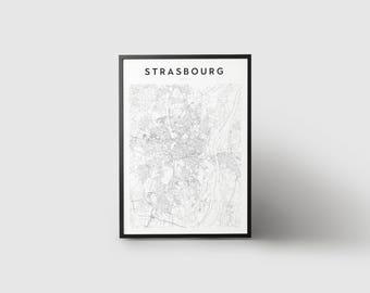 Strasbourg Map Print