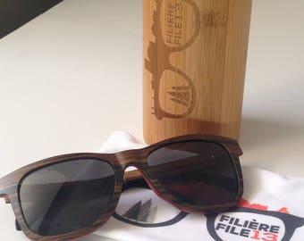 Rock'eYes - wooden - UV400 sunglasses - polarized - filiere13 - File13 - Gravity Wooden Sunglasses - UV400 - Polarised