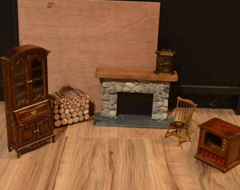 Vintage Dollhouse Furniture 1:12