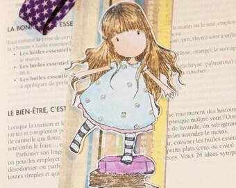 bookmarks feminine little girl on books for reading lovers!