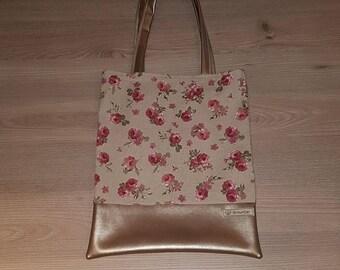 Beige rose bag