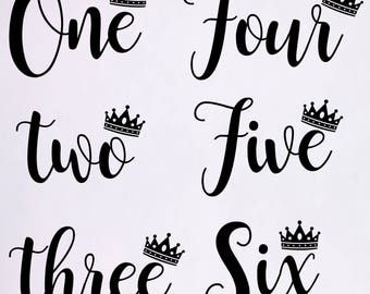 Birthday SVG, One SVG File, Baby Girl, Crown, Number svg, Cutting File, PNG, Cricut, Silhouette, Cut Files, Number One, One Year Old