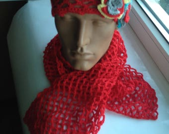 Women's hat and scarf