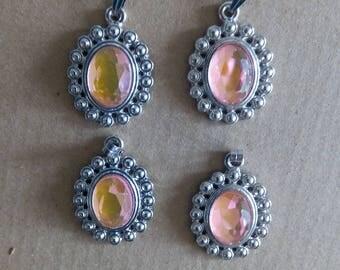 Pink /Breloque Medallion pendant