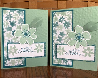 Just a Note Greeting Cards-Set of Two