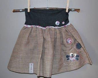 """Original """"melifronce"""" bibbed skirt"""