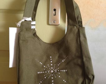 White star pattern handbag