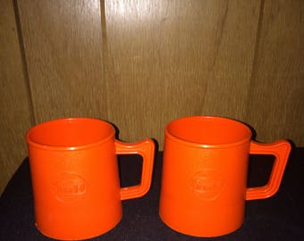 2 Vintage Gulf Gas Coffee Cup Holders