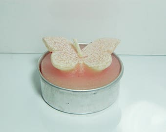 Pink Butterfly candle