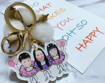 Family Keychain, Cute keychain, good for gifts