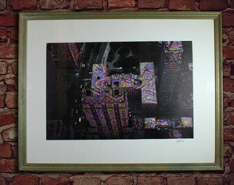 Chicago Art Print Framed Fine Art Giclee Psychedelic Photograph Print
