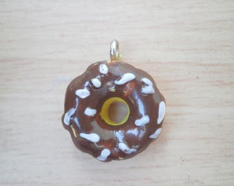 Charm donut chocolate and white sprinkles