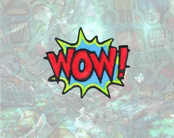 WOW Patch Punk Back Patch Iron on Patch Sew On Patches