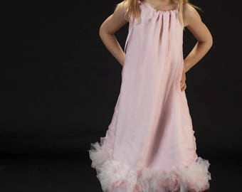 Misty ballerina pink silk dress