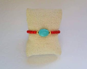 Red Sea bamboo beads and Turquoise bracelet
