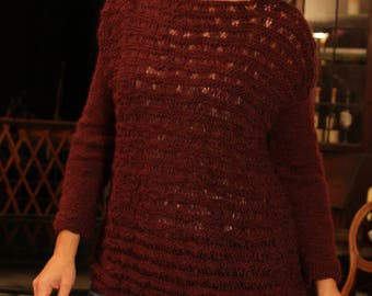 fancy Burgundy alpaca sweater