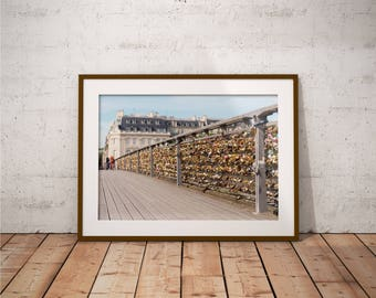 Metal Print - Love Bridge, Urban landscape Photography - Metalic Aluminum Print, Fine Art, Wall Art, Nature Print, Home Decor, Photography