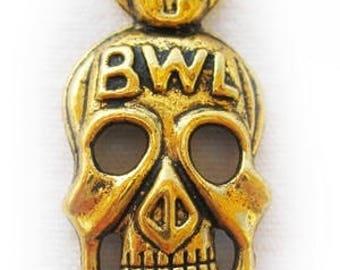1 gold skull pendant