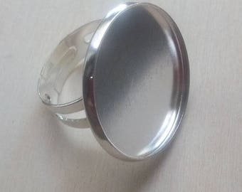 5 supports ring silver 23mm