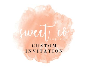 SWEET CO PAPERIE Extras: Custom Invitation