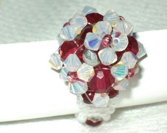 Romantic ring with swarovski pearls