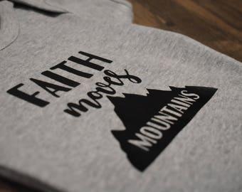 Faith Moves Mountains Onesie