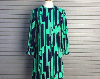 Vintage dress // 1960s vibrant print