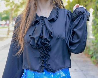 Hoshizora Mirage Black Frilly Blouse
