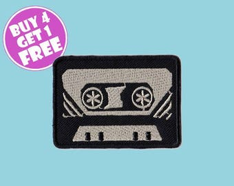 Classic Patches 80s Patches Iron On Patch Embroidered Patch Cassette Tape Music