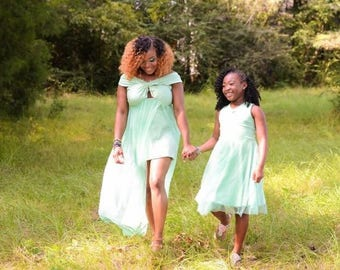 ADULT MATERNITY SIZE Mommy + Me Dress Matching Dresses