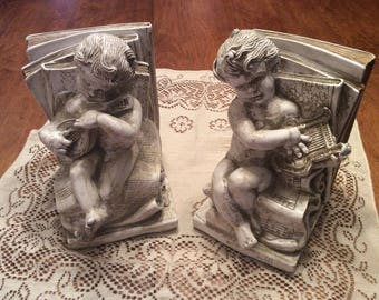 Cherub bookends, Chicago Statuary