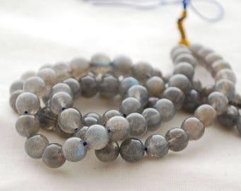 "High Quality Grade AA Natural Labradorite Semi-Precious Gemstone Round Beads - 8mm - 15"" strand"