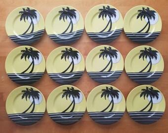 Fitz and Floyd, palm beach; Fitz and Floyd plates