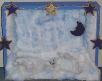 Christmas decoration winter decoration beautiful polar bear decorative display