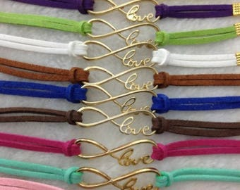 Leather Love Infinity bracelet