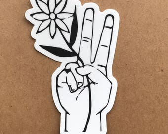 Peace Flower Sticker