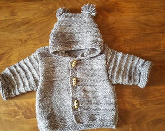 Multicolor hooded jacket size 3 months