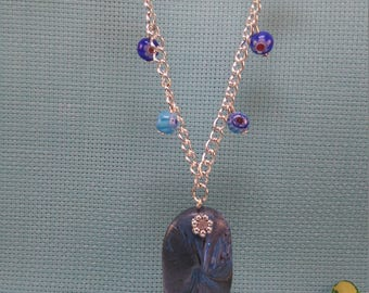 §42§ polymer & millefiori beads necklace