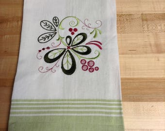 Handtowel - machne embroidered - Christmas themed