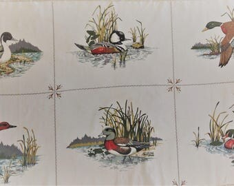 Vintage Mallard Duck Fabric, Duck Quilt Fabric, Wildlife Design, Duck Hunter Fabric, Quilting Cotton