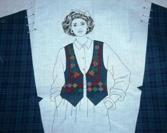 Harvest Vest Fabric Panel for Adult Vest (6-8) (10-12) (14-16) (18-20)