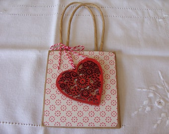 Decorated Kraft Gift Bag