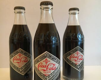 Vintage Coca-Cola Commemorative 1976 75th Anniversary Bottles, Never Opened