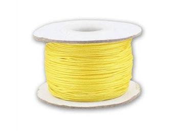 Spool of 0.8 mm or 1 mm - yellow - braided Nylon thread