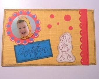 Birthday and baptism Oui Oui custom photo card